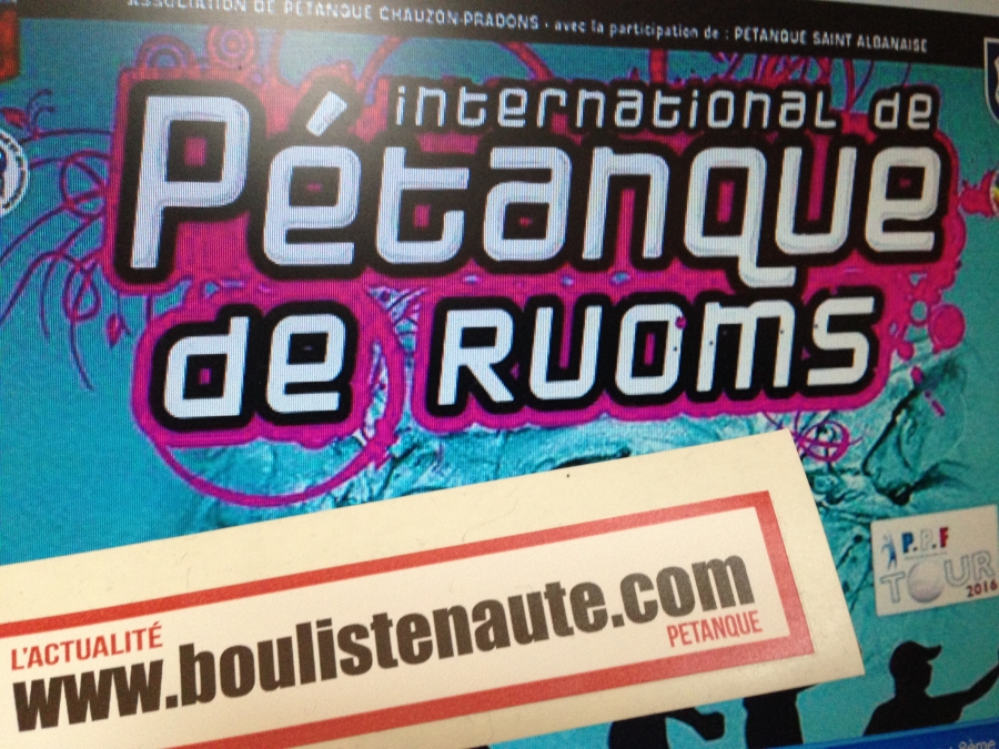 Re: 8ème International à pétanque de Ruoms, 3 et 4 septembre