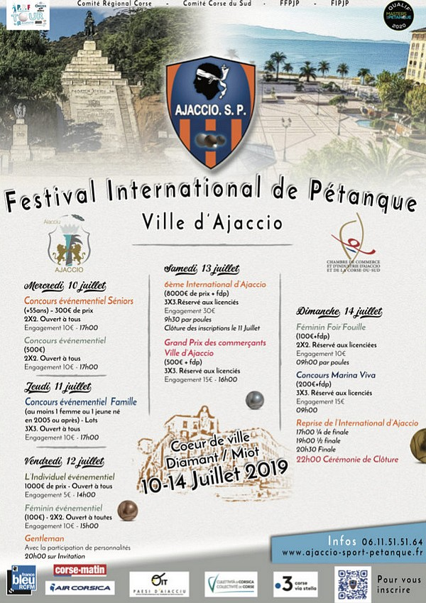 Re: International d'Ajaccio - 13 et 14 juillet