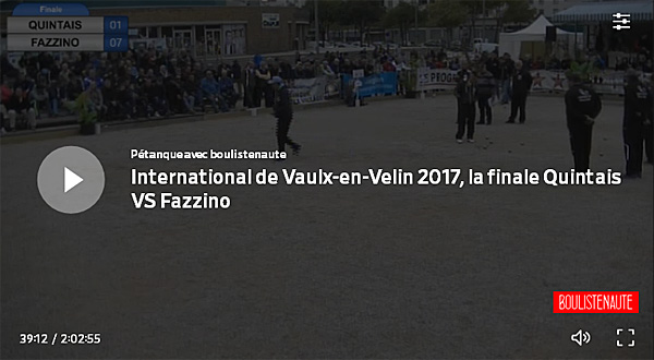 Re: 2ème International de la Ville de Vaulx-en-Velin, 7 & 8 octobre 2017 - Avec WebTV Boulistenaute