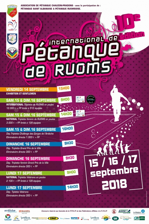 [WEBTV] International à pétanque de Ruoms - 15/16 septembre