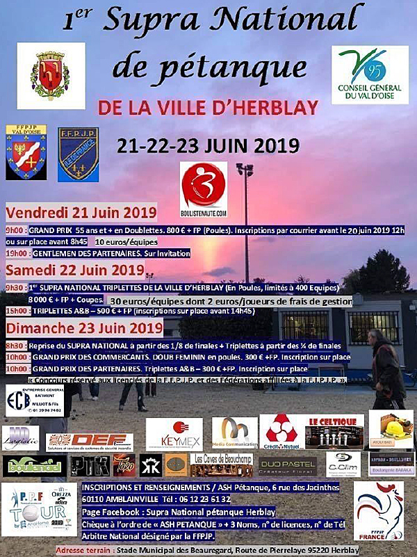 Supranational d'Herblay - 22 & 23 juin