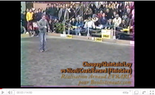 Finale du National de CHOLET  ptanque 2001 : Premier pisode