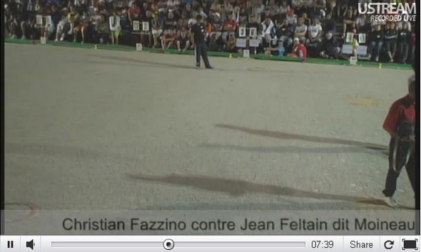 Court extrait du 32me tte  tte : Christian FAZZINO vs Jean FELTAIN