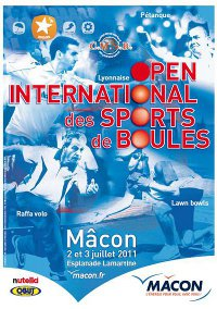 Premier Open International des Sports de Boules Macon 2011