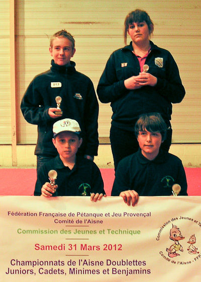 Chpt. de L&#039;Aisne doublettes jeunes 2012
