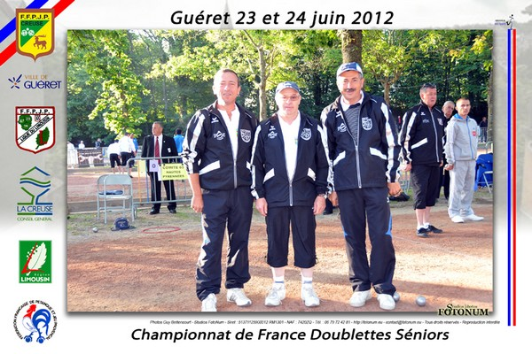 Championnat de France doublette 2012  Guret