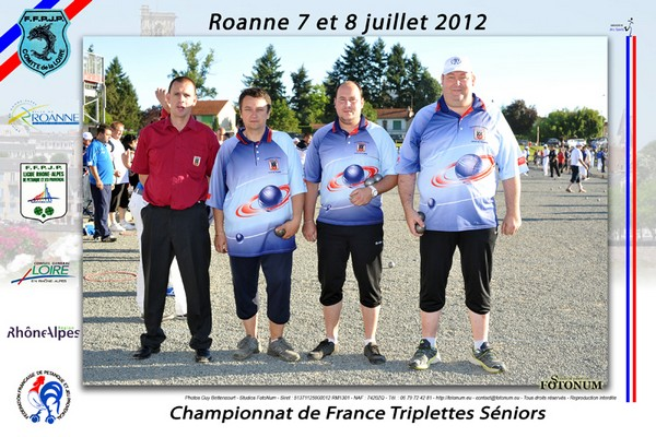 Chpt. de France triplette 2012 