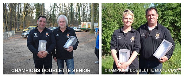 Championnats de Moselle doublette et doublette mixte 2013