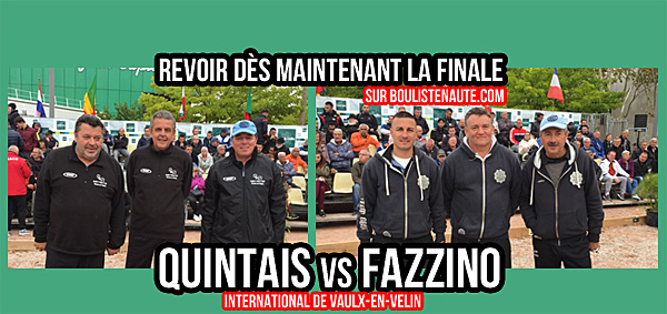 International à pétanque de Vaulx-en-Velin 2017, la finale Quintais VS Fazzino