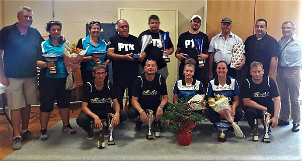 6ème National à pétanque de Bourbon-Lancy, les podiums