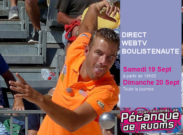 Ruoms attend l'élite de la pétanque - Direct WebTV