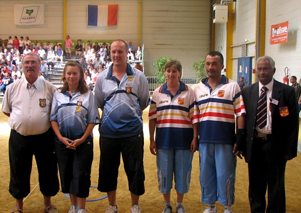 Pétanque France Dou Mixte 2008 : Quarts
