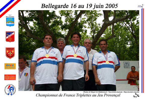 Chpt. de France triplette JP 2005 � Bellegarde