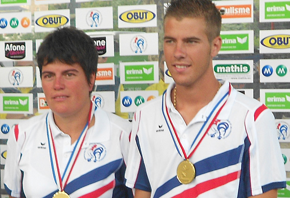 Les champions de France mixte 2012
