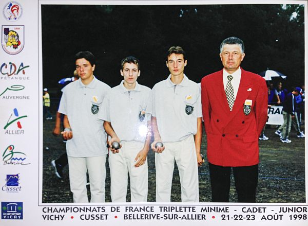 CdF triplette juniors 1998 � Vichy/Bellerive-sur-Allier