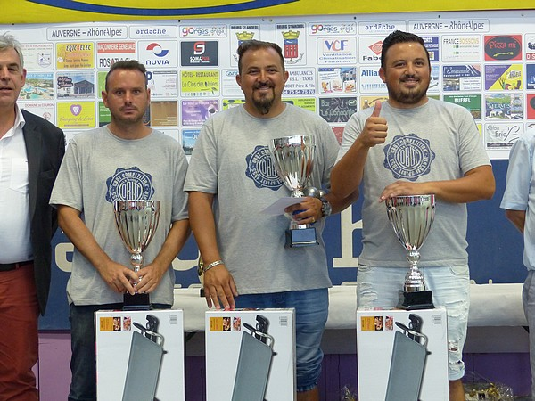 Bourg Saint And�ol 2016, les finalistes Rochette/Schroll/Re...