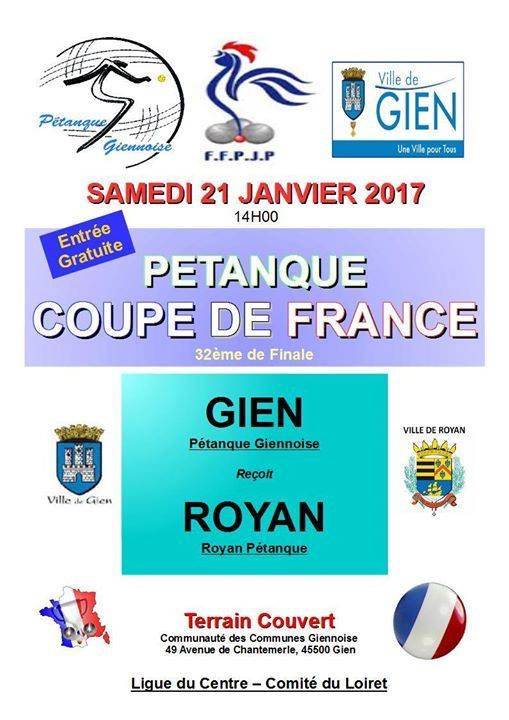 Coupe de France de pétanque ZONE 04 : Gien vs Royan