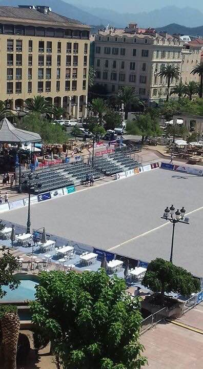 4ème International à pétanque d'Ajaccio : On s'installe en centre ville