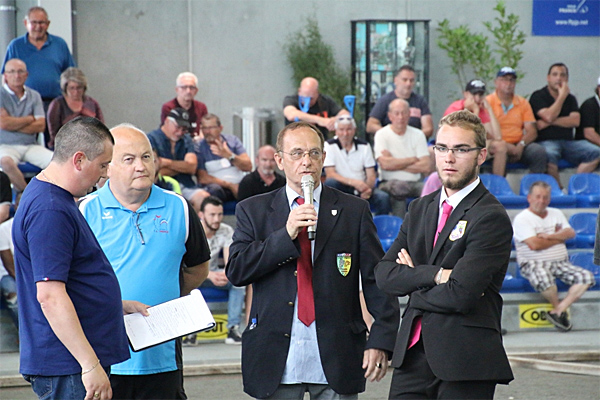 National à pétanque de Bassens 2018, les officiels