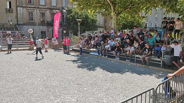 5ème National de Les Vans à pétanque 2018, le carré final