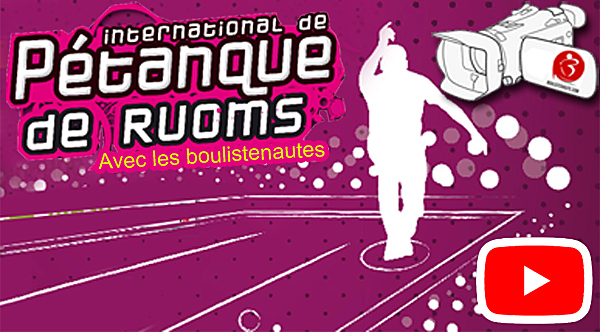 International à pétanque de Ruoms - 15/16 septembre avec WebTV