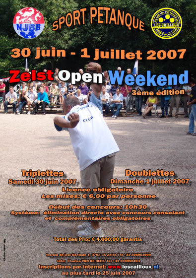 3ème Zeist Open Weekend 2007