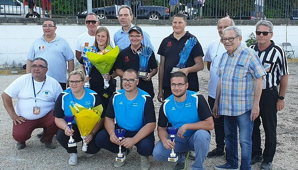 National Mixte à pétanque d'Évreux 2019, le podium