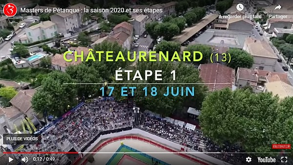 Bande-Annonce Tournée des Masters de Pétanque 2020 et ses é...