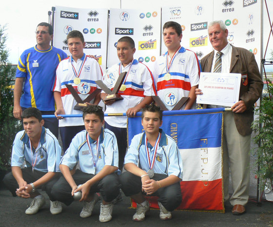 Champions et vice-champions cadets