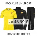 Pack veste de survêtement + pantalon + tee-shirt Uhlsport Stream 22